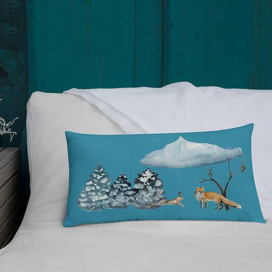 Winter Wonderland Premium Pillow: Rectangle