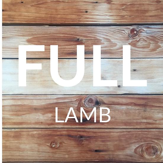 Full Lamb: Typically 22-26kg