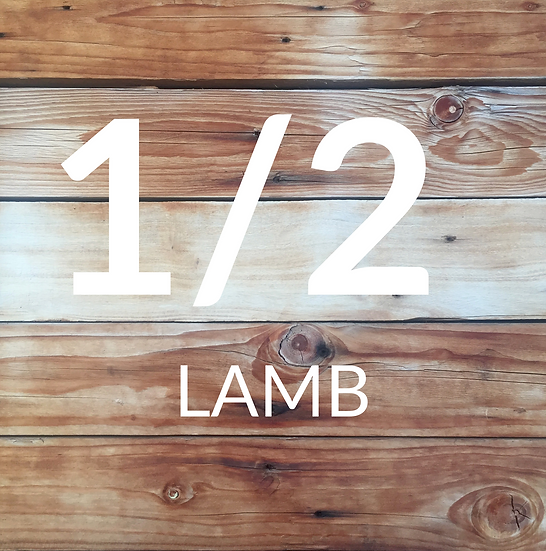 1/2 Lamb: Typically 11-13kg