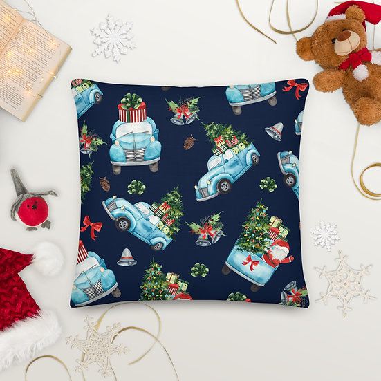 Christmas Special Delivery Premium Pillow: Square