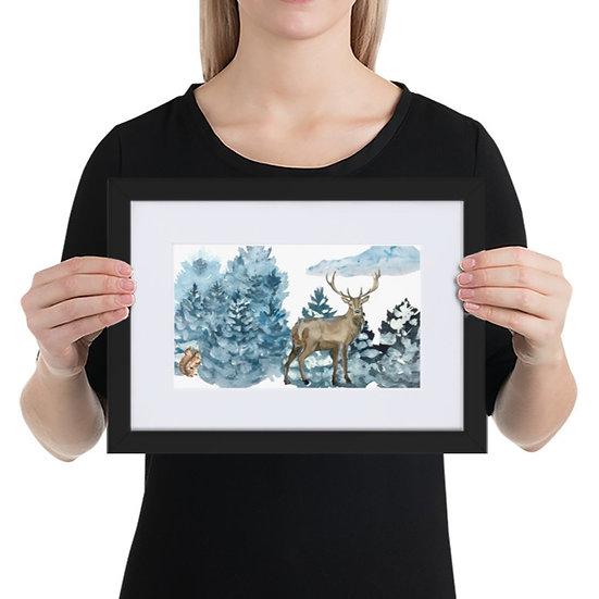 Winter Wonderland: Matte Paper Framed Poster With Mat