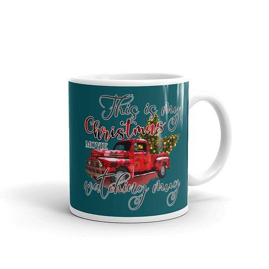 Christmas Movie Watching Mug Ceramic 11 oz