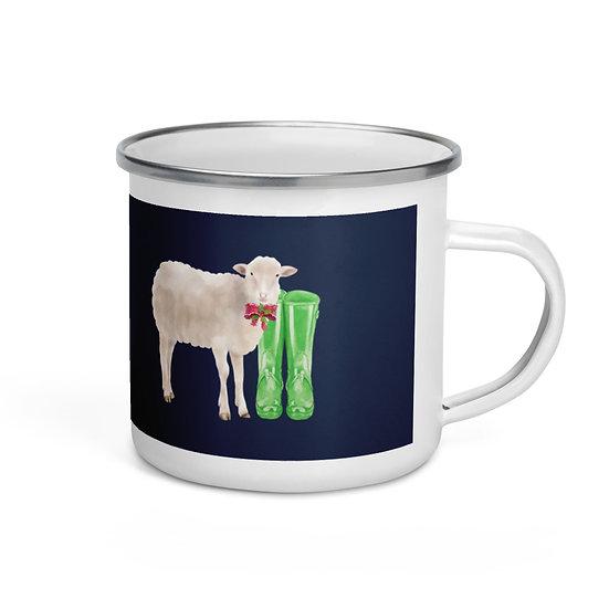 Lamb & the Tree: Enamel Mug 12 oz