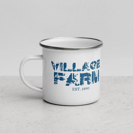 Village Farm Blue Enamel Mug 12 oz copy