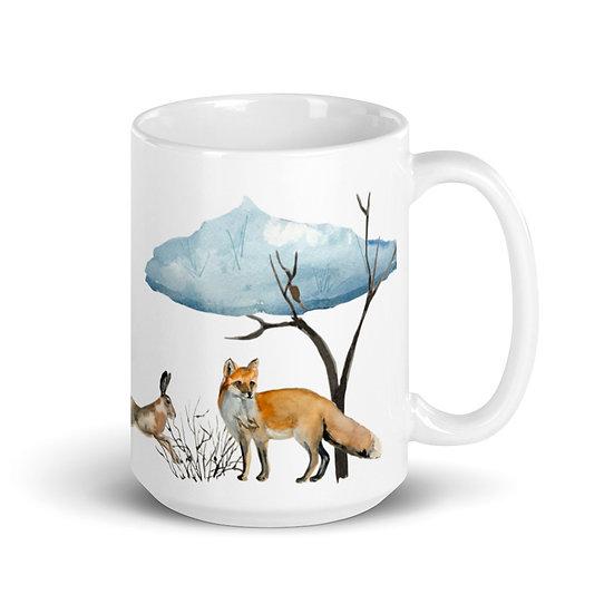 Winter Woodland Mug 15 oz