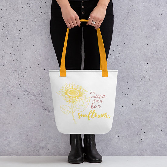 'Be a Sunflower' Tote bag