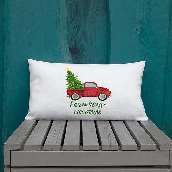 Farmhouse Christmas Premium Pillow