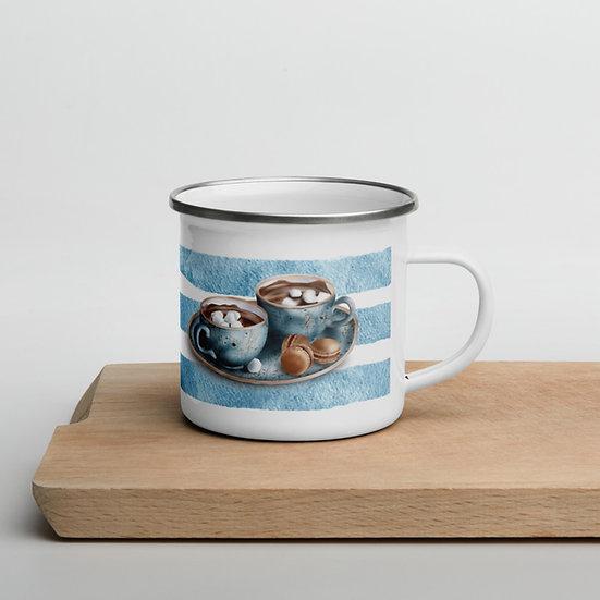 Hygge Blue Enamel Mug