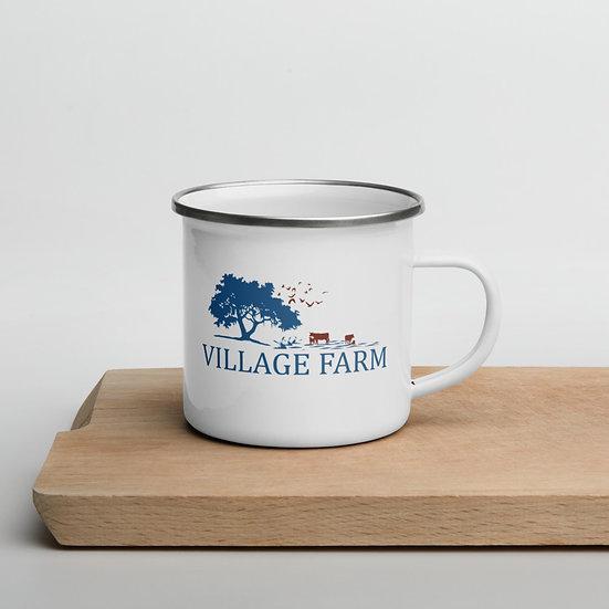 Village Farm Enamel Mug