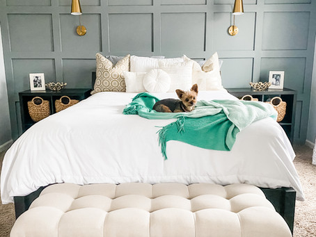 Budget-Friendly Master Bed + Bath Makeover