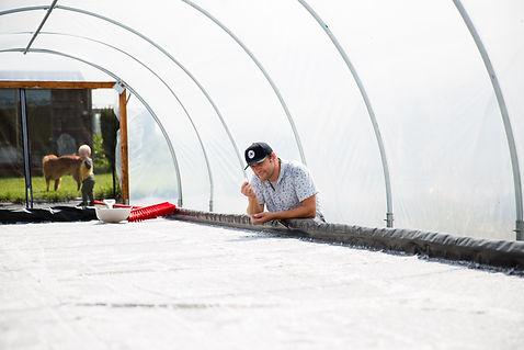 Checking the sea salt for harvest