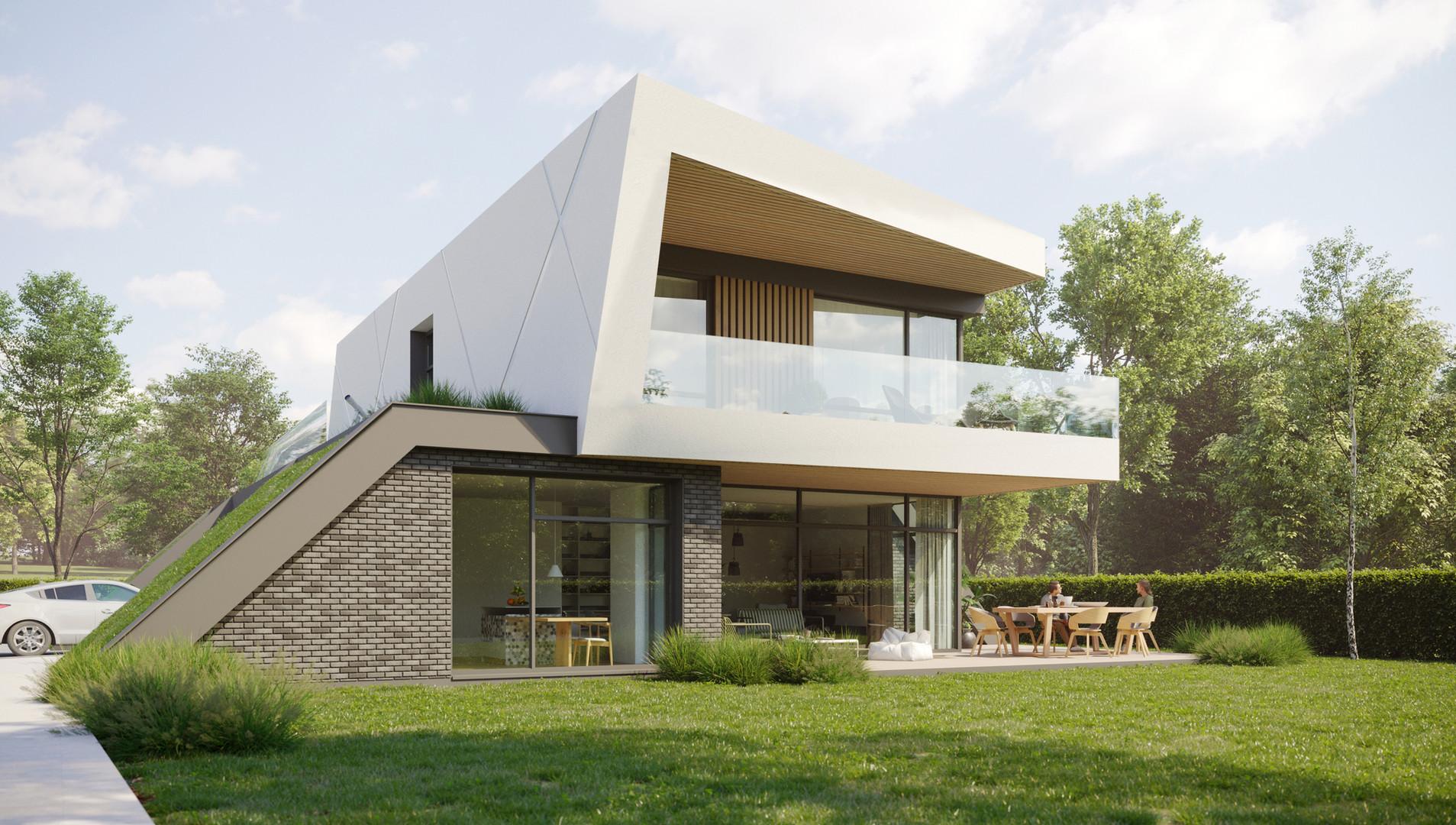 Architectural visualization of House Lumina