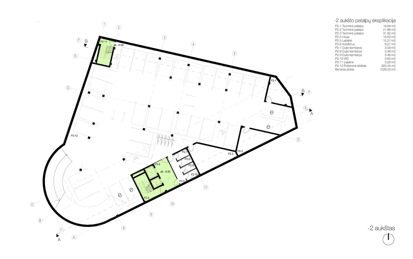 Plan level -02 - underground parking