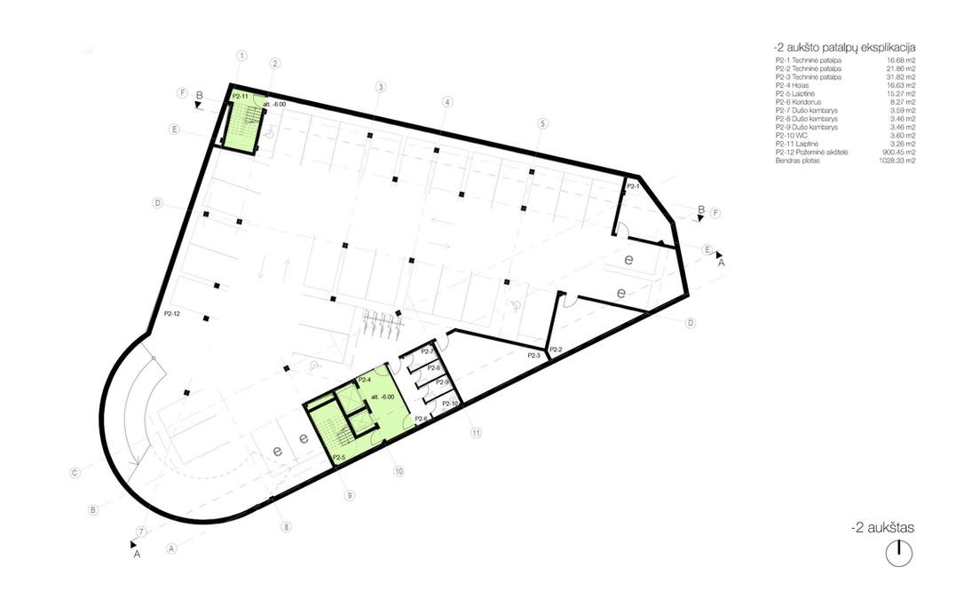 -02 aukšto planas - požeminė automobilių aikštelė