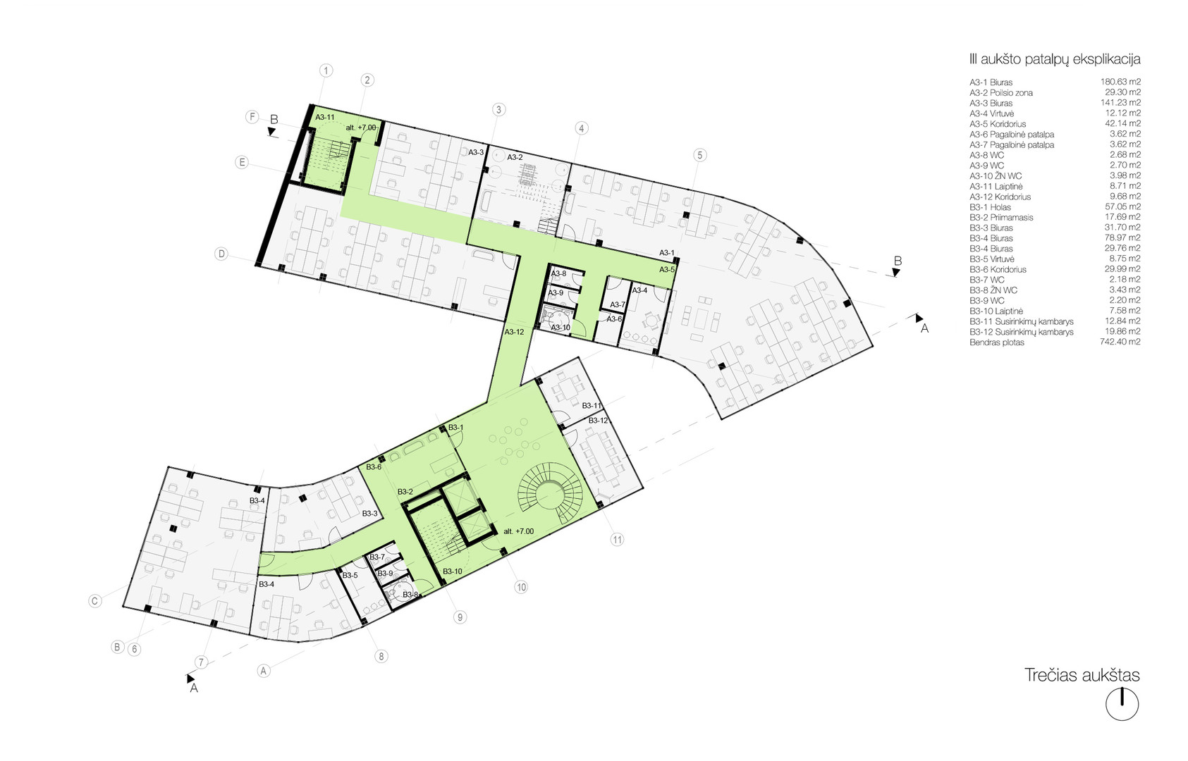 Plan level 03 - offices