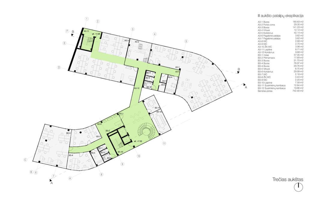 03 aukšto planas - biurų patalpos