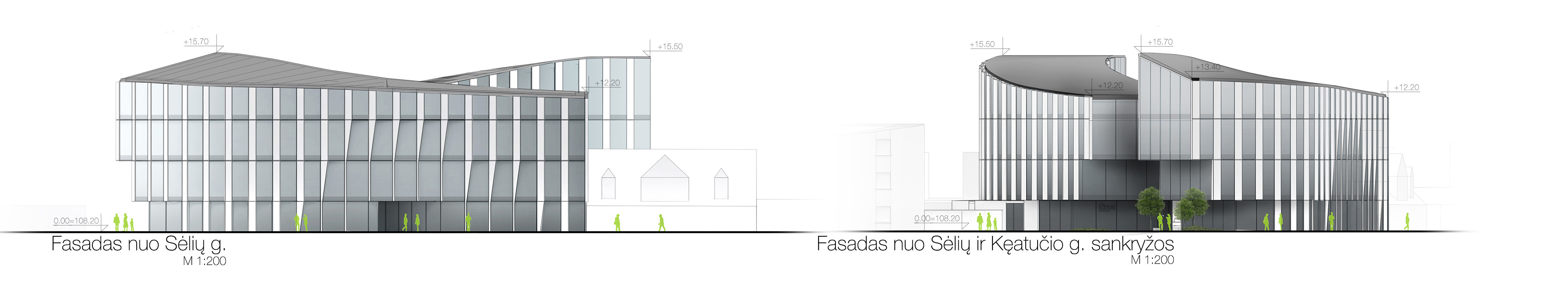 Elevations of the building