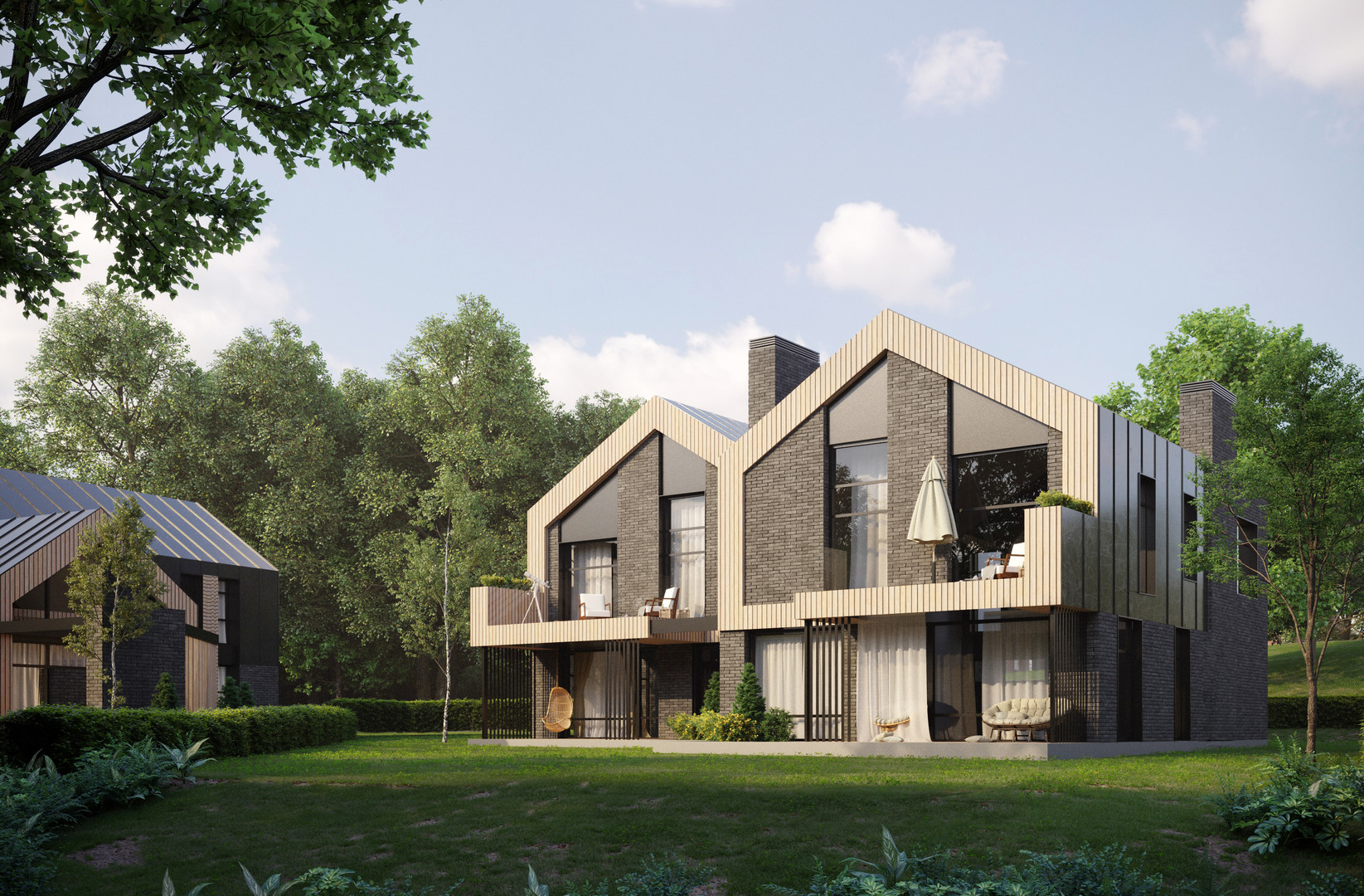 Architectural visualization of House Sudi of The Hill of Yotvingians