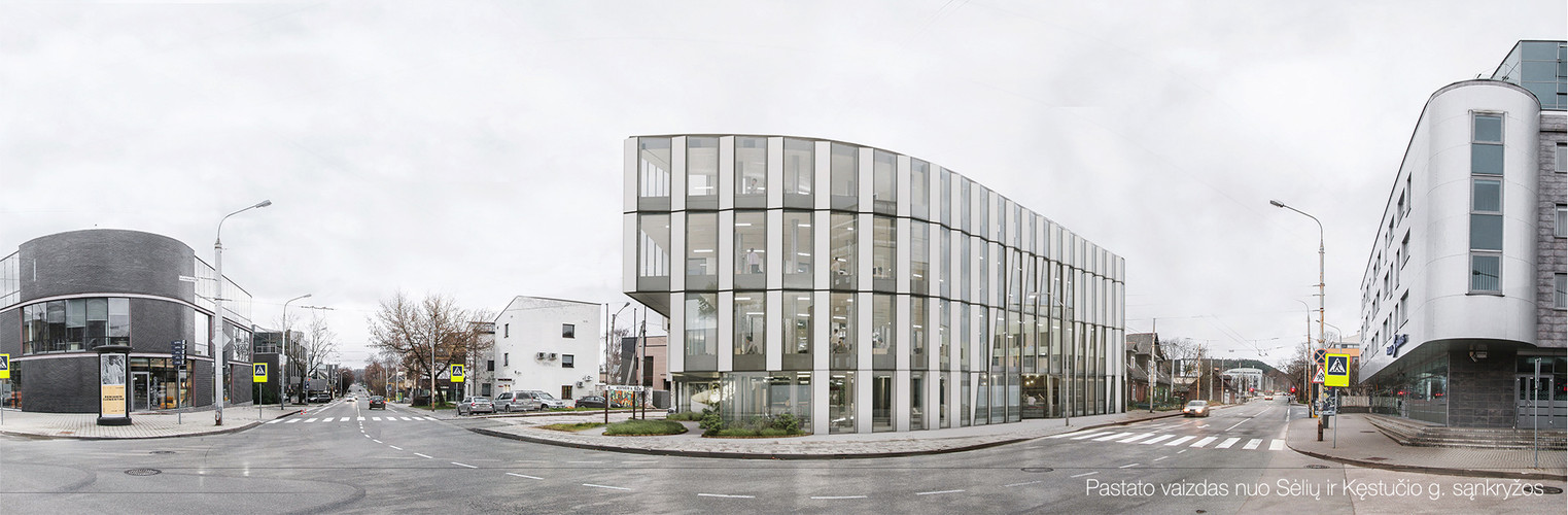 Photos of current situation with new designed office building