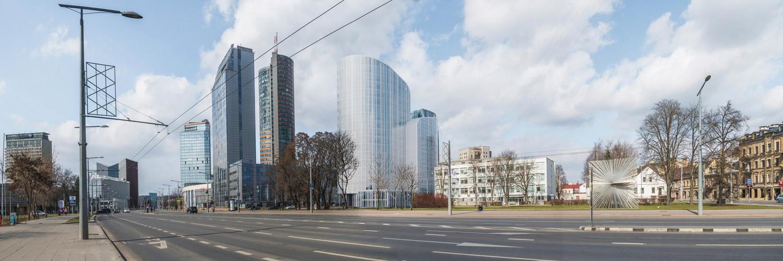View from Konstitucijos avenue