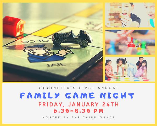 Family game night Friday, January 24th 6