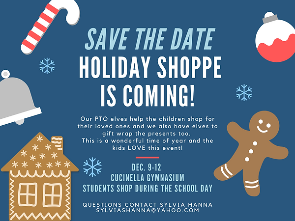 save the date Holiday shoppe is coming!
