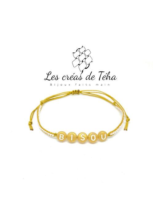 Bracelet personnalisable doré