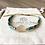 Bracelet Summer turquoise, or et arbre de vie plaqué or