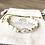 Bracelet Summer blanc, doré et intercalaire résine epoxy et laiton