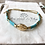 Bracelet Summer turquoise en perles de verre et coquillage Cauri en plaqué or