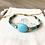 Bracelet Summer turquoise, or et perles imitation pierre de gemme