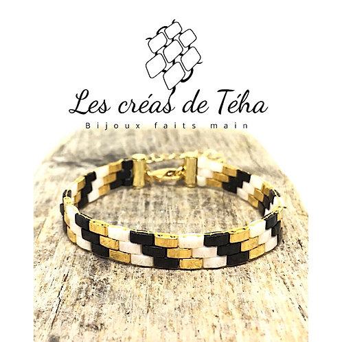 Bracelet tissé plaqué or