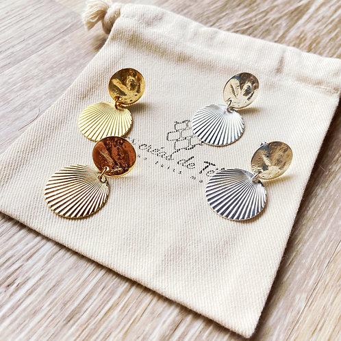 Boucles d'oreilles 'Ana en plaqué or et plaqué argent