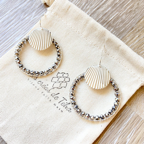 Boucles d'oreilles Les créas de Téha modèle Hi'o avec perles de verres