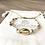 Bracelet Summer blanc, doré et cauri en plaqué or