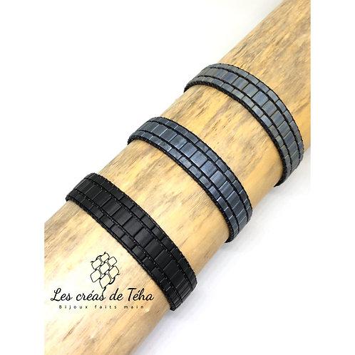 Bracelets homme tissé en perles japonaises, réglable