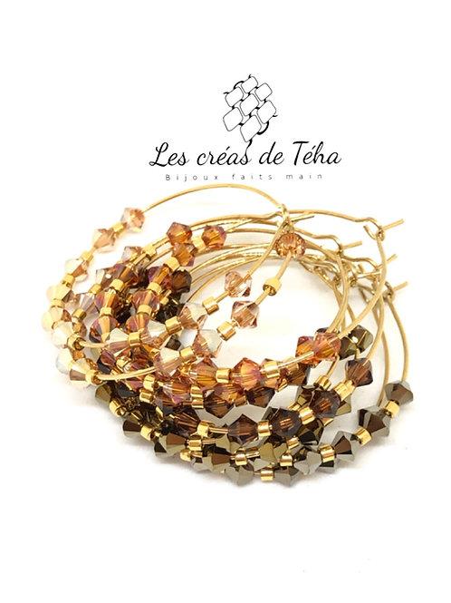 Créoles Shine avec perles Swarovski