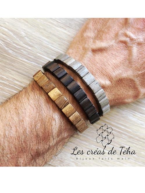 Bracelet homme Mohina en bois