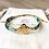 Bracelet Summer turquoise, or et intercalaire fleur
