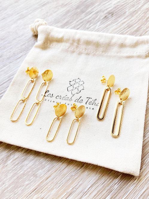 Boucles d'oreilles Hono en plaqué or
