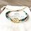 Bracelet Summer turquoise, or et losange double plaqué or