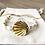 Bracelet Summer blanc, doré et coquillage en plaqué or