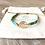 Thumbnail: Bracelet Summer turquoise et doré en perles de verre