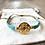 Bracelet Summer turquoise en perles de verre et médaille ethnique