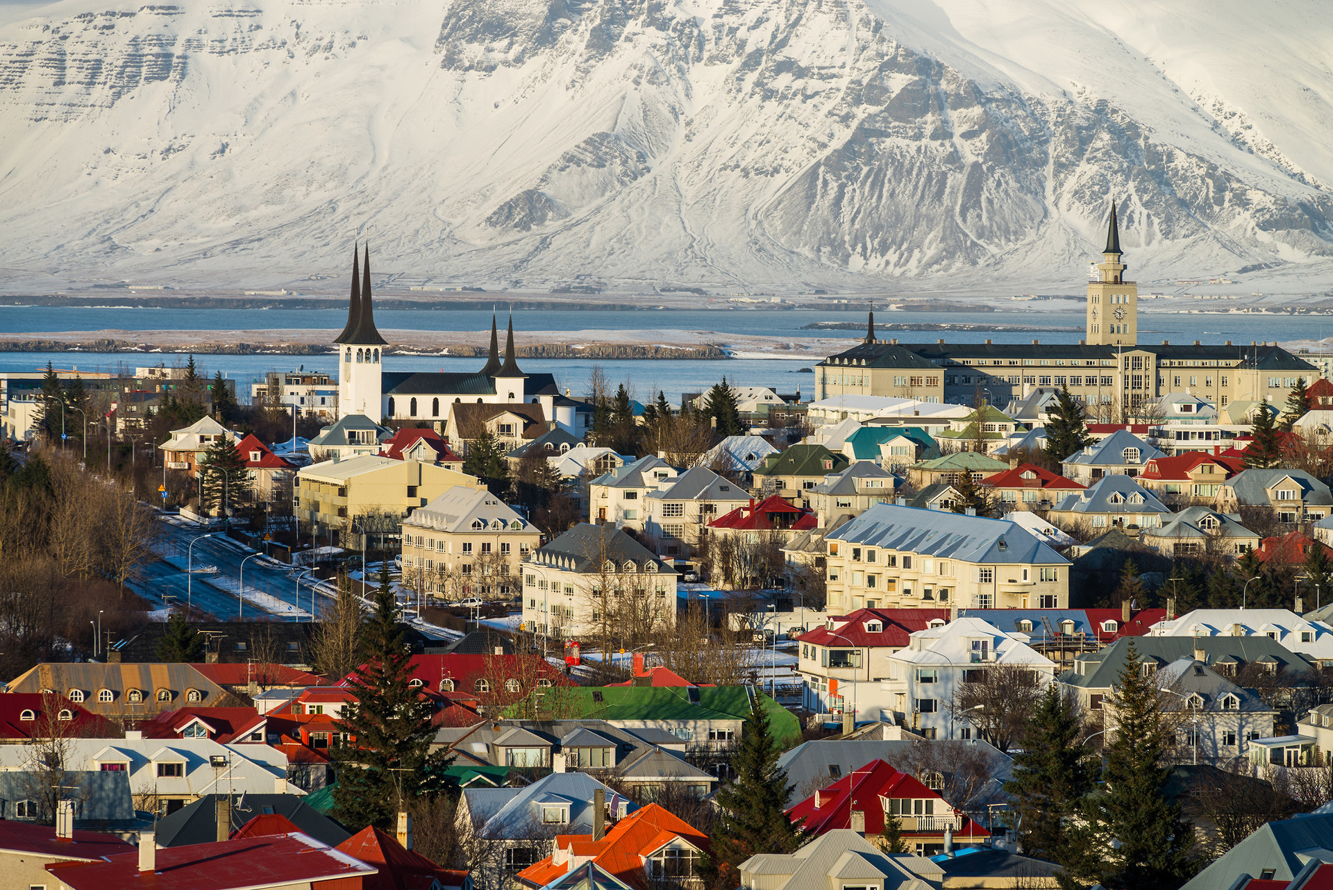 Photo of Reykjavik's panorama, Iceland.j