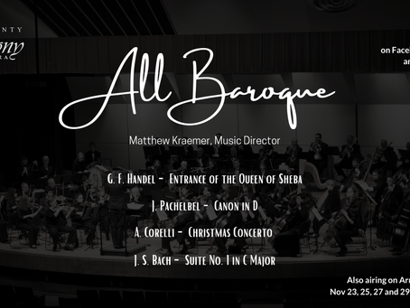 """All Baroque"" Premiere – Nov. 21st"