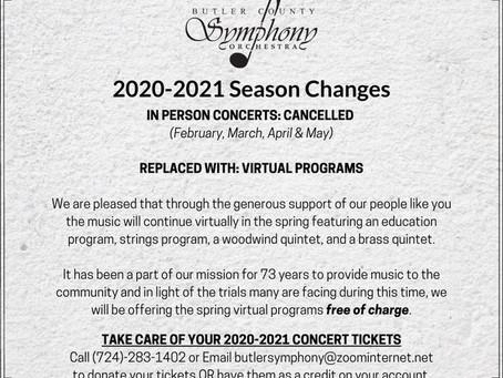2020-2021 Season Changes