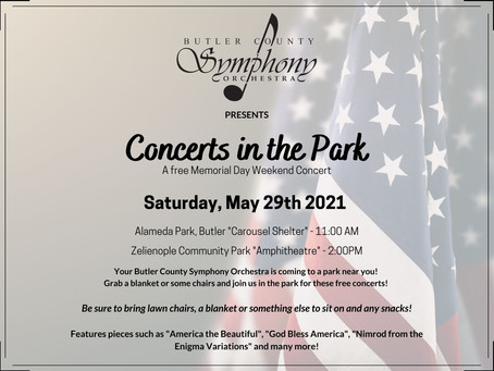 Butler Symphony Hosts Free Memorial Day Weekend Park Concerts