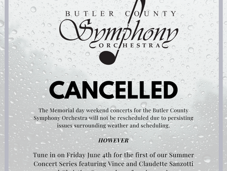 Park Concert Canceled - Summer Concert Series to Begin Friday