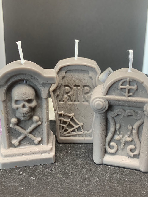 Gravestone Candle Set of 3